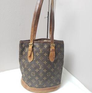 Authentic Louis Vuitton monogram bucket Bag